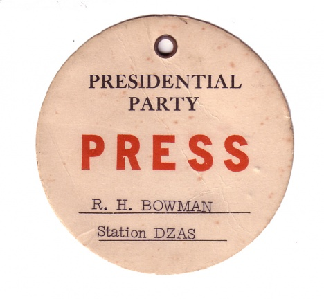 Presidential Press Pass.