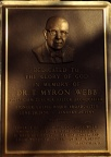 T. Myron Webb plaque.