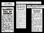 Press clippings, Johnson killings