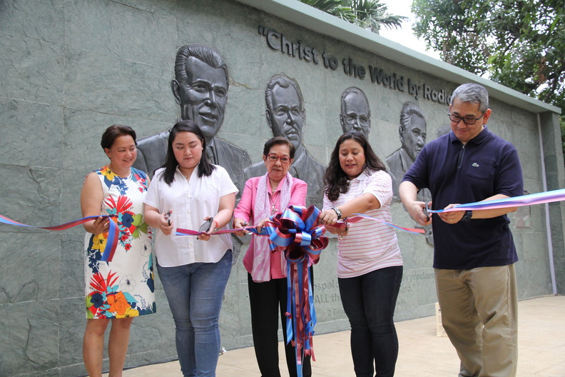 Ribbon Cutting, The FEBC Pioneers' Wall